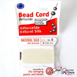 White Natural Silk Bead Thread No.8