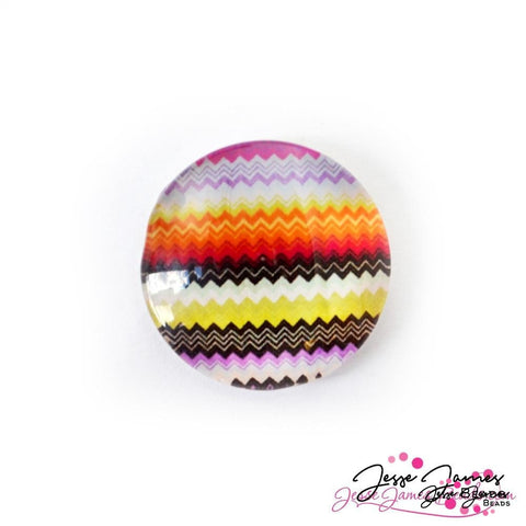 Cabochon Multi-Colored ZigZag