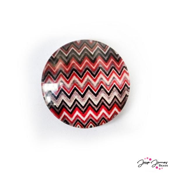 Cabochon Lava Red and Black