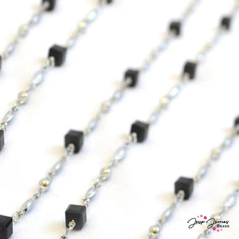 Beaded Chain Modern Black