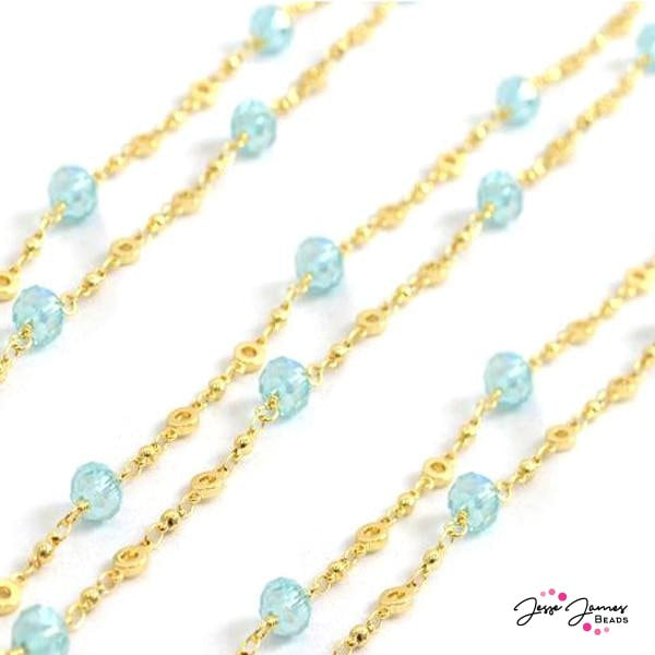 Beaded Chain Ocean Blue