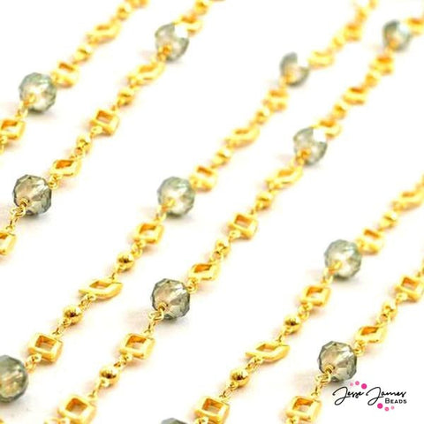 Beaded Chain Olivene Fancy Gold