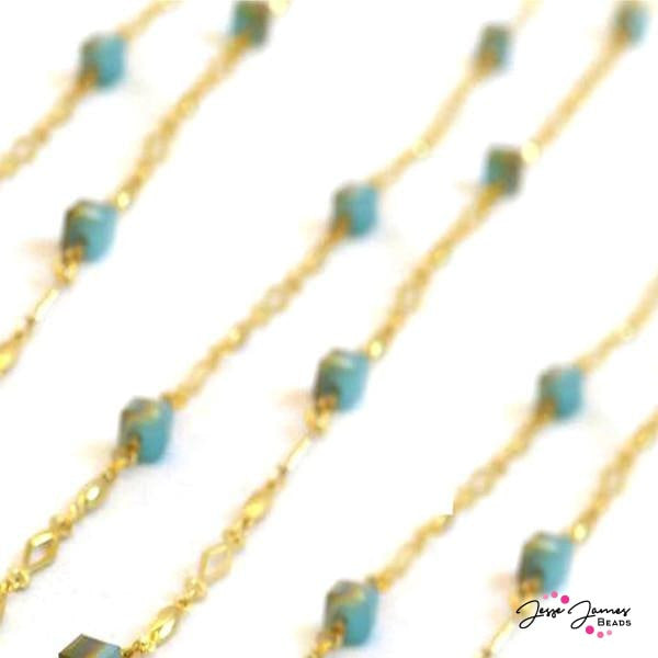 Sandy Shores Turquoise Beaded Chain