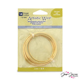 Artistic Wire 14 Gauge Craft Wire in Gold
