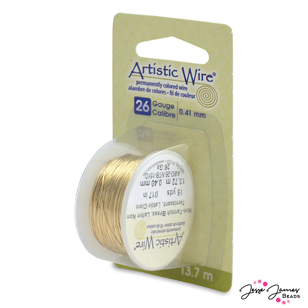 Artistic Beading Wire In Tarnish Resistant Brass 26 G