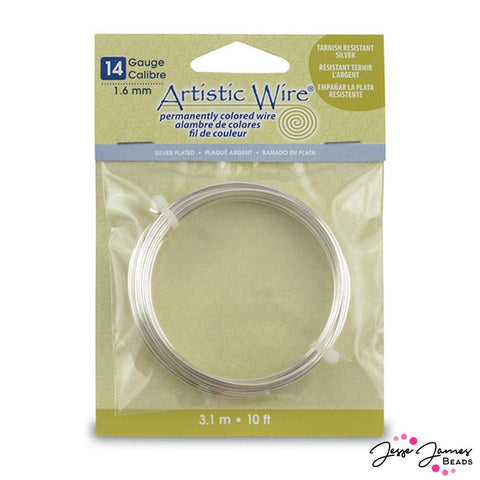 Beadalon Artistic 14-Gauge Craft Wire in Tarnish Resistant Silver