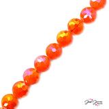 Bead Set in Tangy Tangerine ChiChi Glass