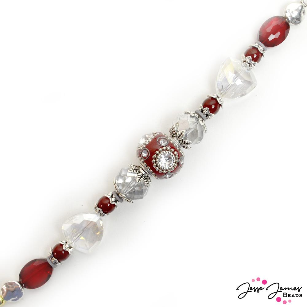 Bead Strand in Crystalized Burgundy