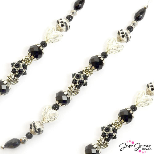 Bead Strand in Gothic Roses