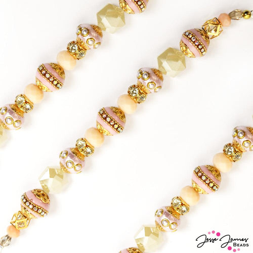 Bead Strand in Sweet Peach