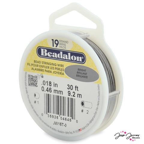 Beadalon Bright Silver 19-Strand Stringing Wire