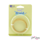 Beadalon Artistic Wire 14 Gauge Braided Tarnish Resistant Brass