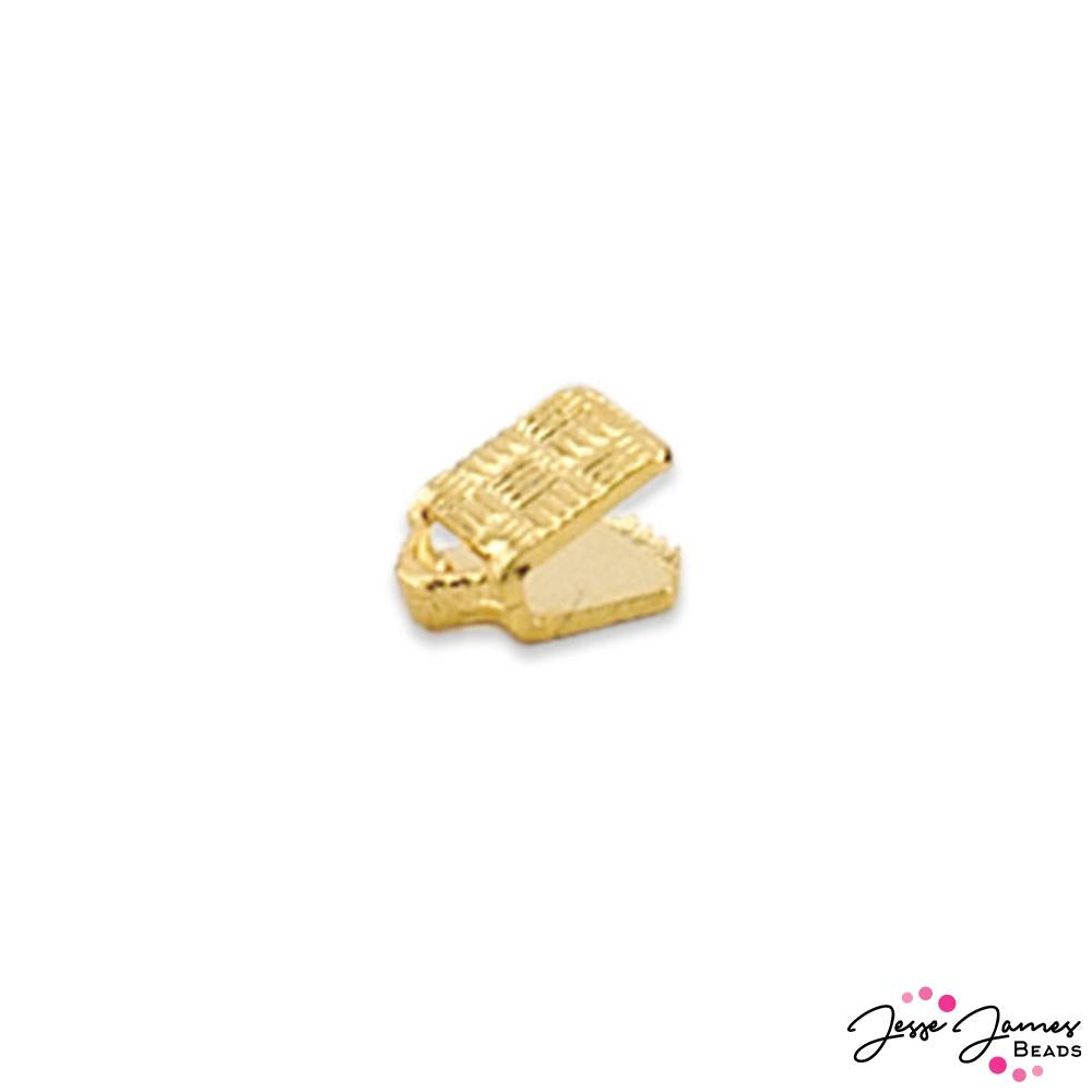 Beadalon Cord Ends, 1.9 mm Gold