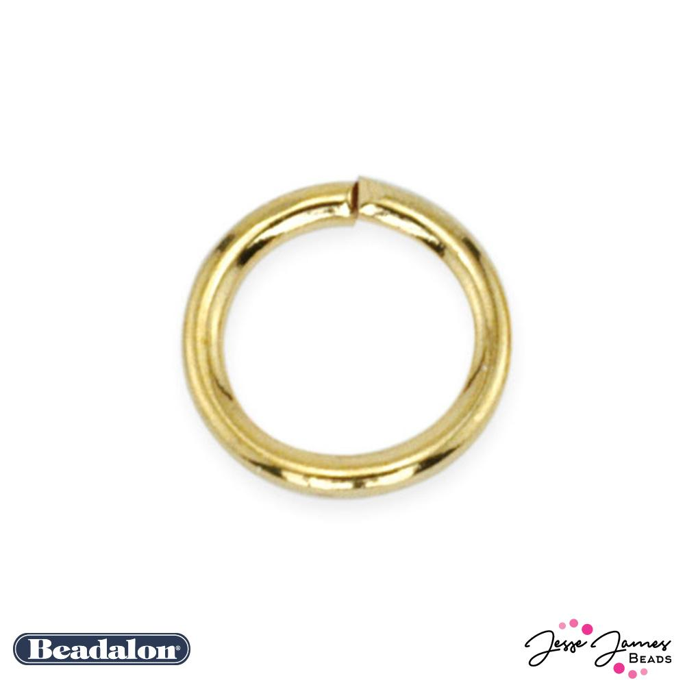 Beadalon Jump Rings in Gold 4mm 144 pack