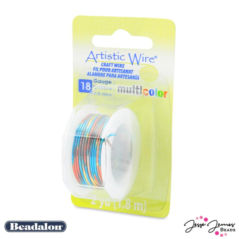 Beadalon Multicolor Wire in Blue Red & Gold 18 Gauge