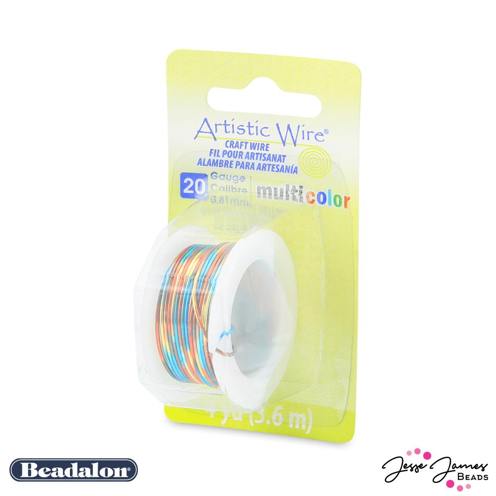 Beadalon Multicolor Wire in Blue Red & Gold 20 Gauge