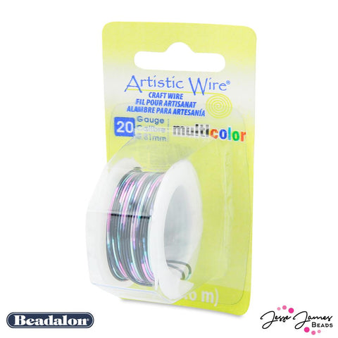Beadalon Multicolor Wire in Pink Black & Green 20 Gauge