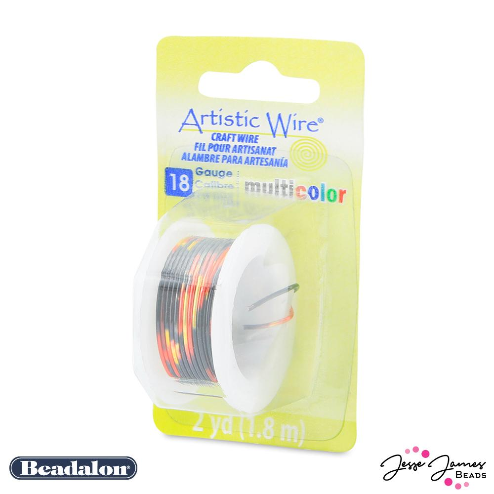 Beadalon Multicolor Wire in Red Gold & Black 18 gauge