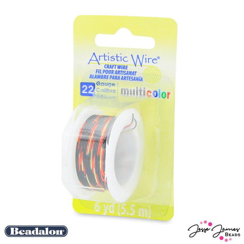 Beadalon Multicolor Wire in Red Gold & Black 22 gauge