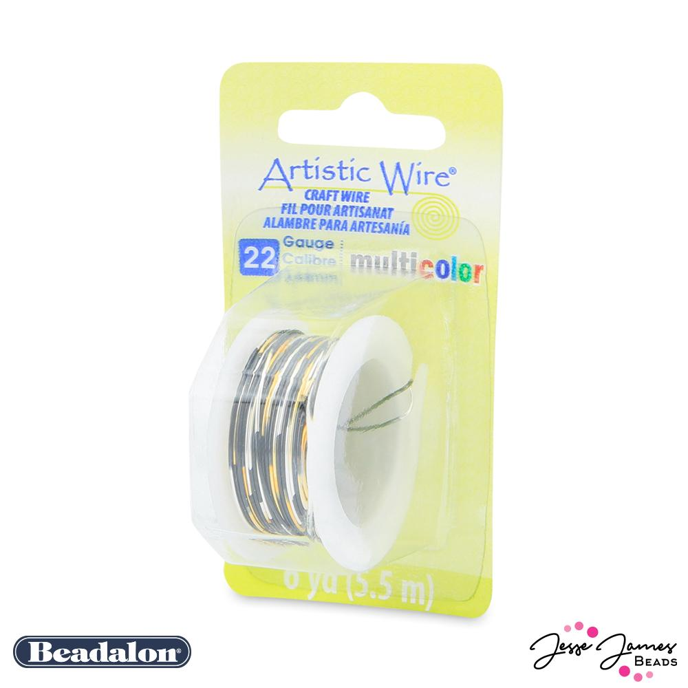 Beadalon Multicolor Wire in Silver Gold & Black 22 gauge