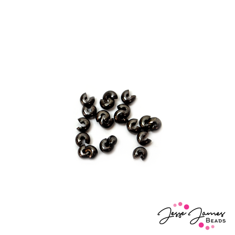 Crimp Bead Covers 4 mm Black