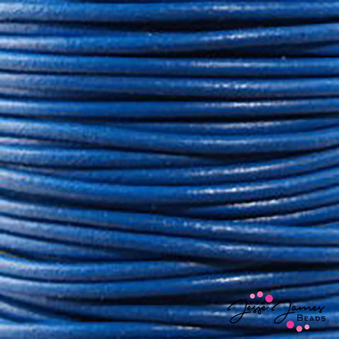 Blue 0.5 MM Leather Cord