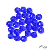 Blue Sapphire 14MM Fire Polish Czech Beads