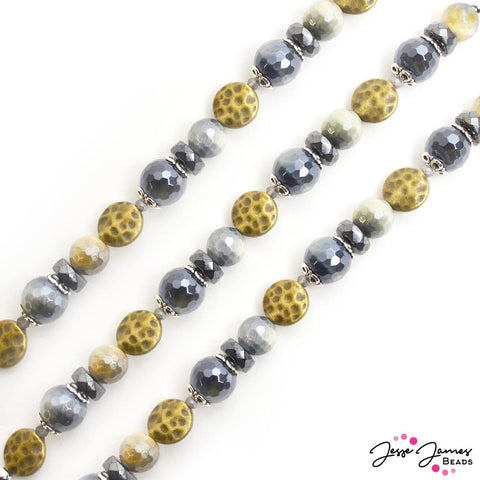 Mystic Bead Strand in Blue Haze Tiger Eye