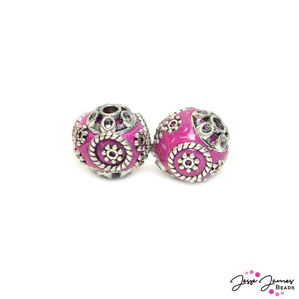 Boho Bead Pair in Hidden Treasure