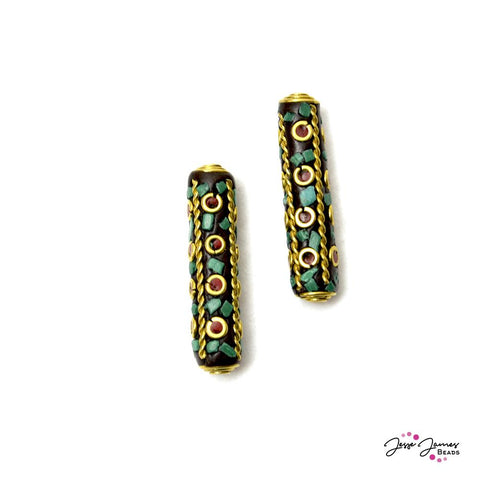 Boho Tower Bead Pair
