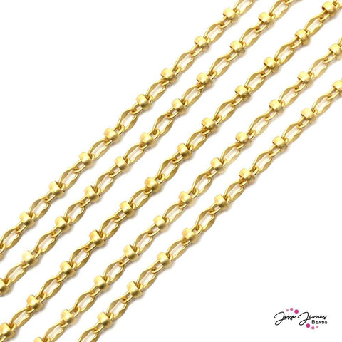 Chain Lauren's in Matte Gold