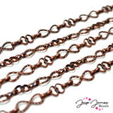 Copper Infinity Heart Metal Chain