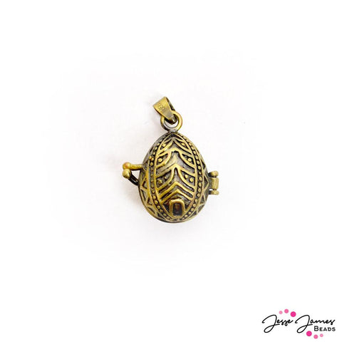 Bronze Metal Pysanka Locket