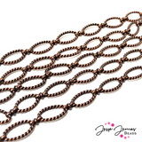 Antique Copper Twisted Figure 8 Link Chain