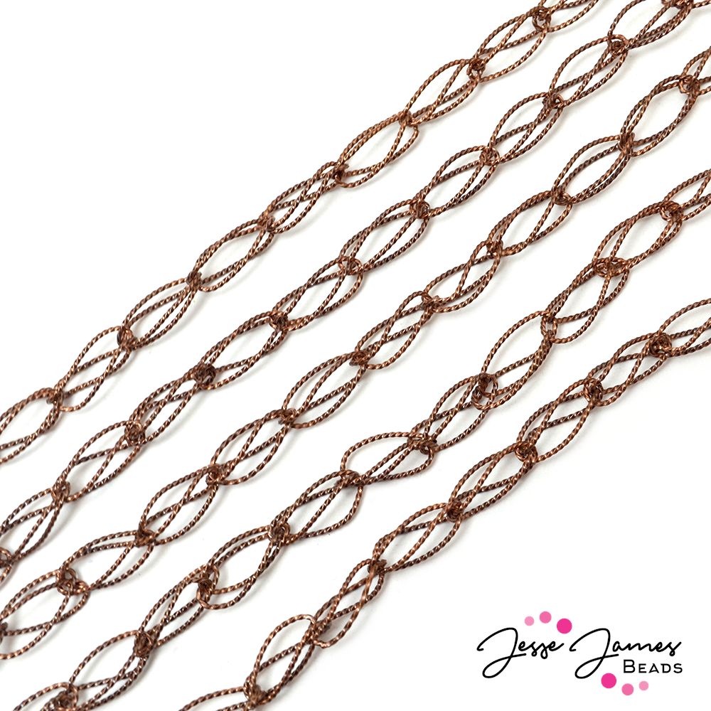 Copper Twisted Wire Hoop Metal Chain