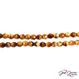 Brown Honey 8mm Fire Polish Czech Beads