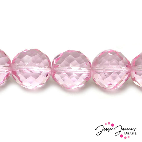 Bubblegum Pink Big Boy Czech 18mm Beads