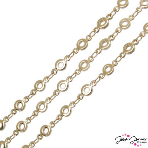 Bubbles Chain in Gold