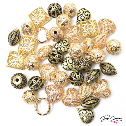 Gold Metal 40 Piece Bead Special