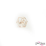 Caged Crystal Bead in Rose Gold 14mm