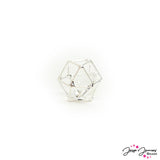 Caged Crystal Bead in Silver 14mm