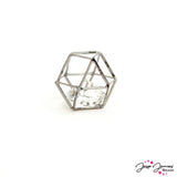 Caged Crystal Bead in Gunmetal 20mm