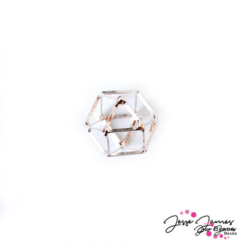 Cage Crystal Bead Rose Gold Medium 20mm