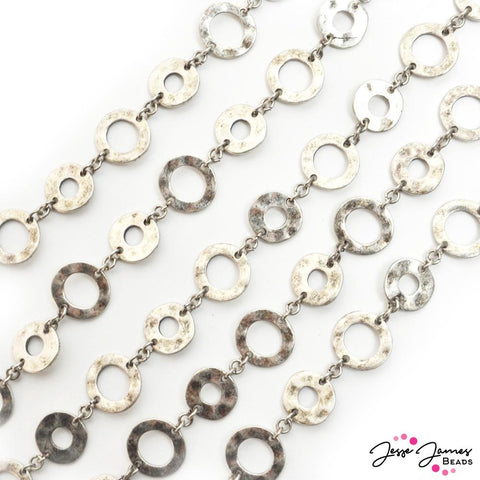 Donut Chain in Silver