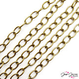 Heavy Cable Chain in Antique Gold