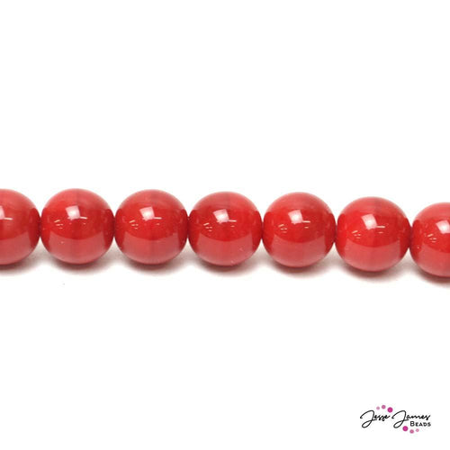 Cherry Red Big Boy 12mm Czech Glass Pearls