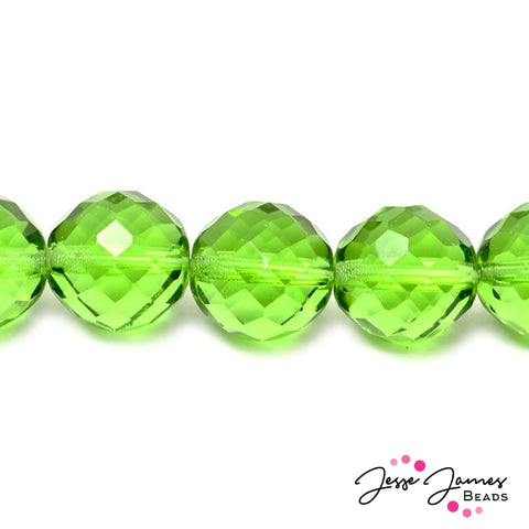 Cool Lime Big Boy Czech 18mm Beads