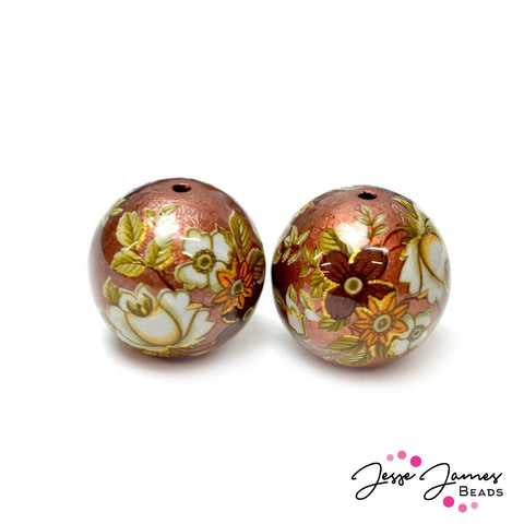Copper Garden 16MM Japanese Tensha Beads