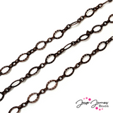 Antique Copper Long and Short Metal Chain