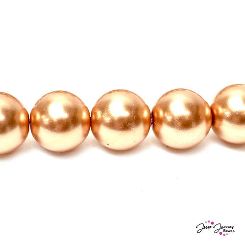 Copper Big Boy 14mm Czech Glass Pearls